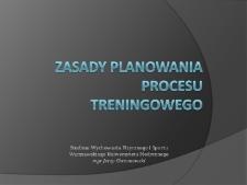 Zasady planowania procesu treningowego