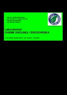 Laboratorium chemii ogólnej i środowiska