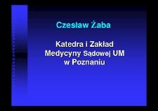Katedra i Zakład Medycyny Sądowej Uniwersytetu Medycznego w Poznaniu