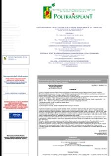 """Centrum Organizacyjno-Koordynacyjne Do Spraw Transplantacji """"Poltransplant"""""""