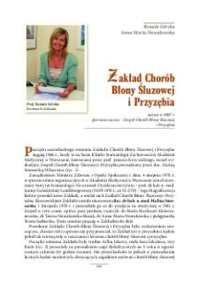 Zakład Chorób Błony Śluzowej i Przyzębia - Warszawski Uniwersytet Medyczny