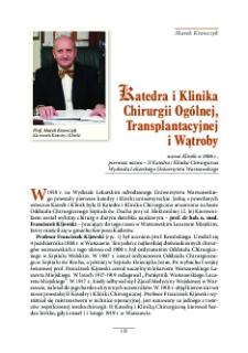 Katedra i Klinika Chirurgii Ogólnej, Transplantacyjnej i Wątroby - Warszawski Uniwersytet Medyczny
