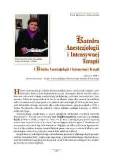 Katedra Anestezjologii i Intensywnej Terapii : I Klinika Anestezjologii i Intensywnej Terapii - Warszawski Uniwersytet Medyczny