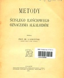 Metody ścisłego ilościowego oznaczania alkaloidów