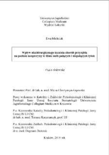 The influence of non-surgical treatment of periodontitis on neopterin level in saliva of smokers and non-smokers